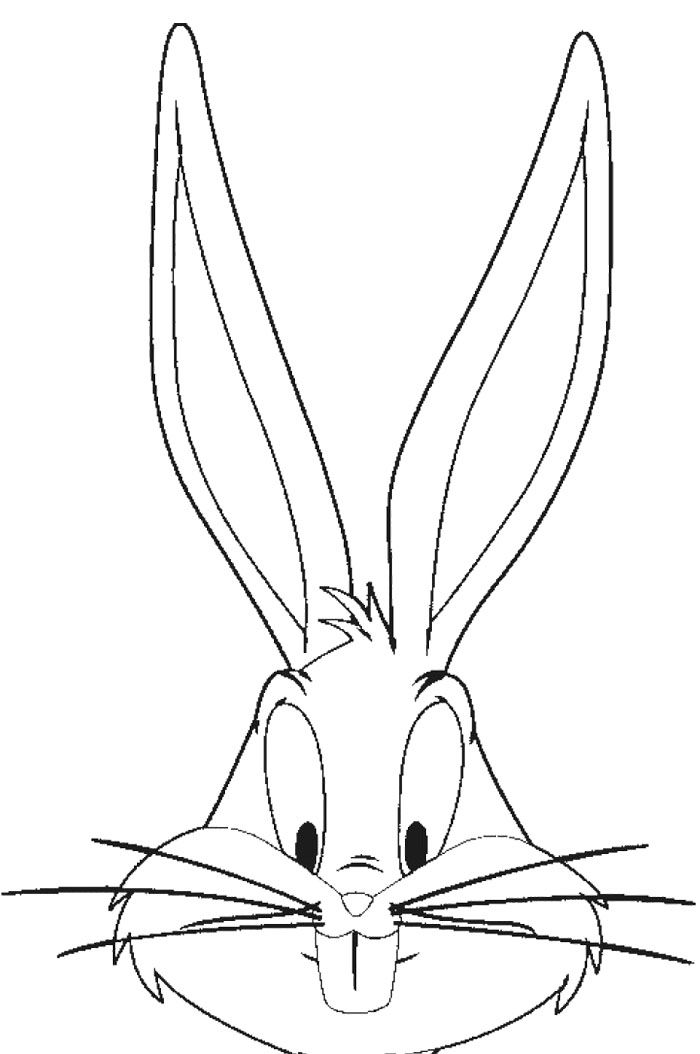 Drawn rabbit face Face pages Bunny Bugs Page