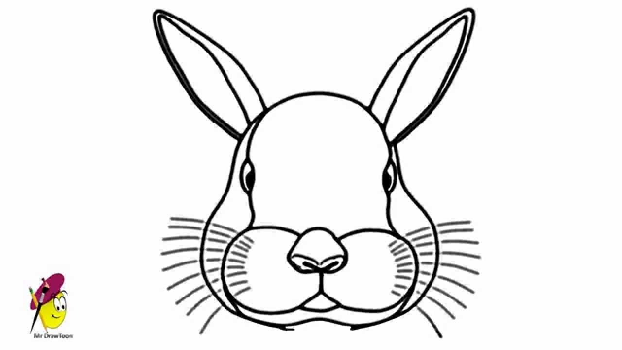 Drawn rabbit face Bunny a Bunny YouTube How
