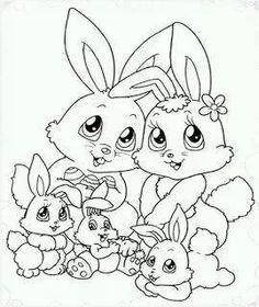 Drawn rabbit family drawing Coloring Famille lapins To Coloring
