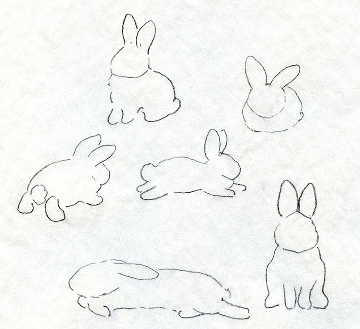 Drawn rabbit family drawing To Rabbit and drawings Rabbit
