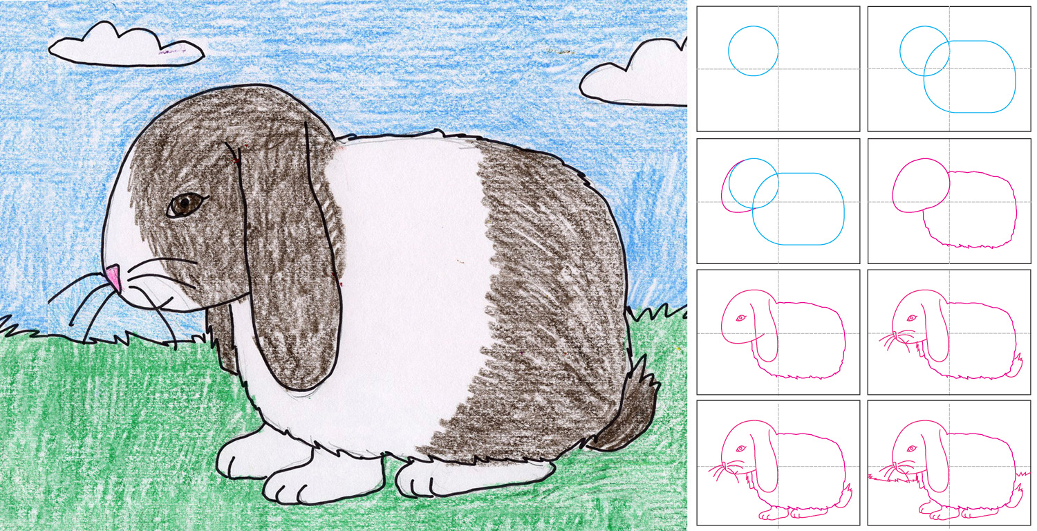 Drawn bunny floppy eared bunny Bunny Art for Projects a
