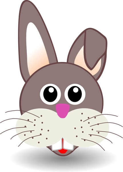 Drawn rabbit funny bunny Office vector svg Open Funny