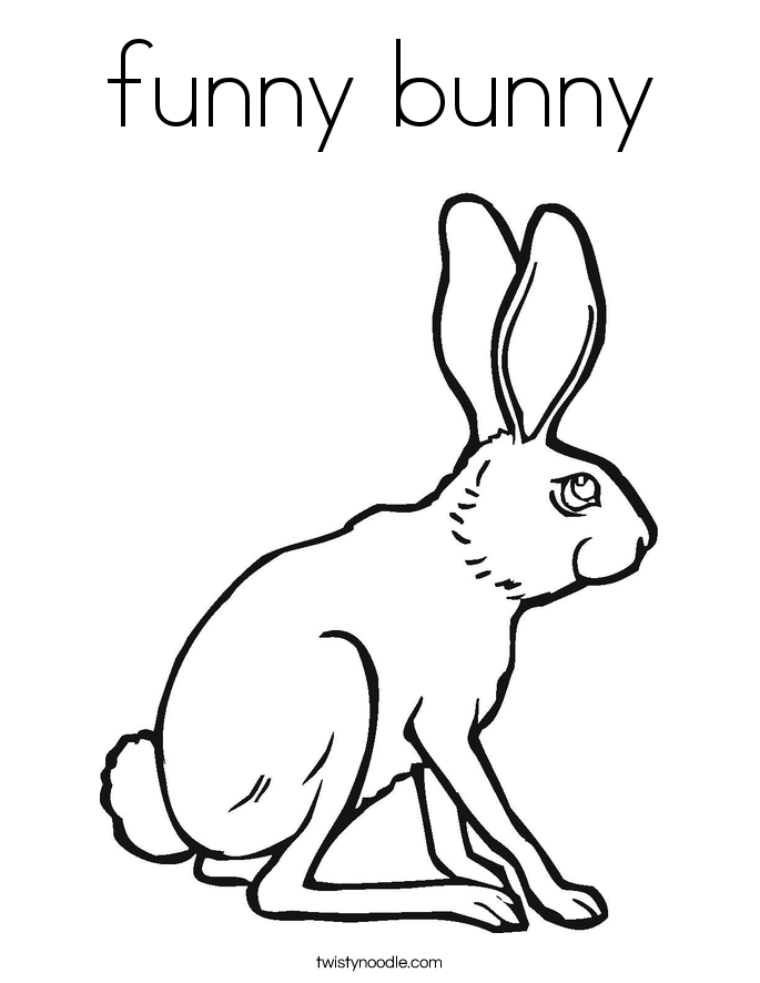Drawn rabbit funny bunny Page Noodle Page funny Coloring
