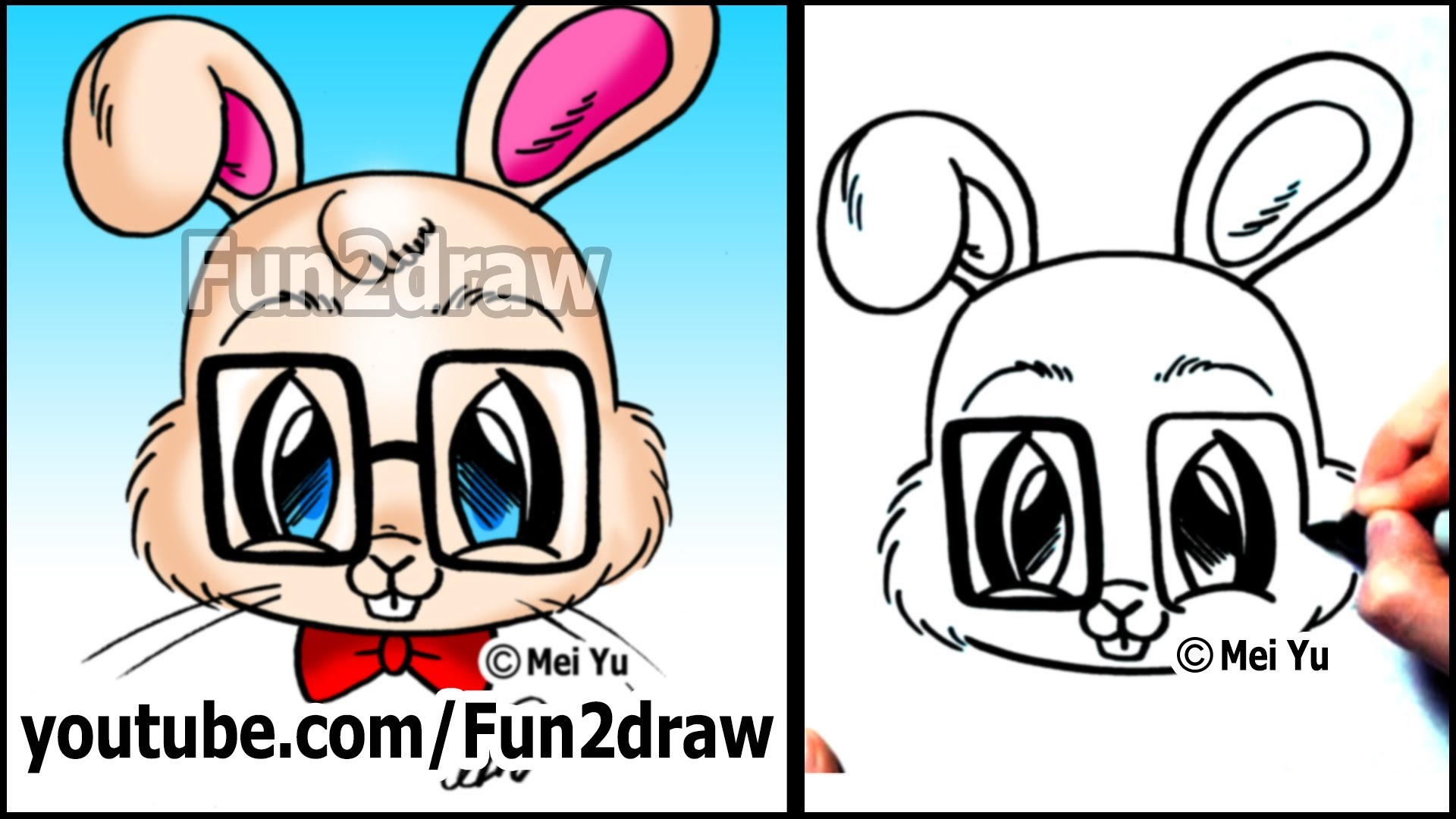 Drawn rabbit funny bunny Animals Easy Easy Rabbit How