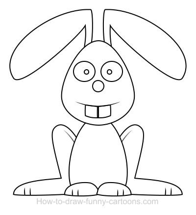 Drawn rabbit funny bunny A cartoon Rabbit Drawing rabbit