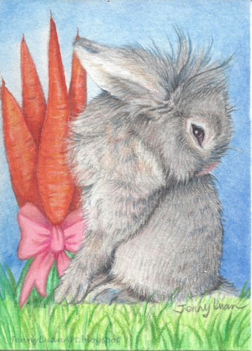 Drawn rabbit furry animal Friend pencil drawing Rabbit
