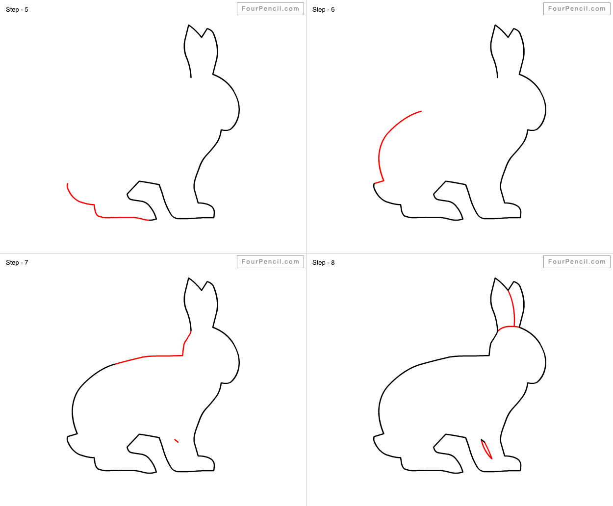 Drawn rabbit grassland animal Step How for to Rabbit