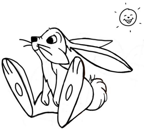 Drawn rabbit hare Drawing Bunny to by Cartoon