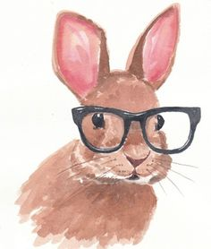 Drawn rabbit hipster Silhouettes Chinese am Set