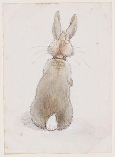 Drawn rabbit ink Art Behind' ORIGINAL and Art