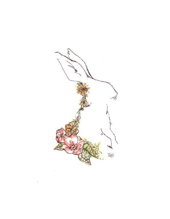 Drawn rabbit ink Ideas Ink Best Print Pinterest