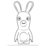 Drawn rabbid easy  by from Invasion How