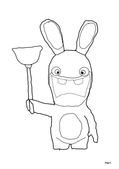Drawn rabbid cartoon Games pages rabbids Pokemon And