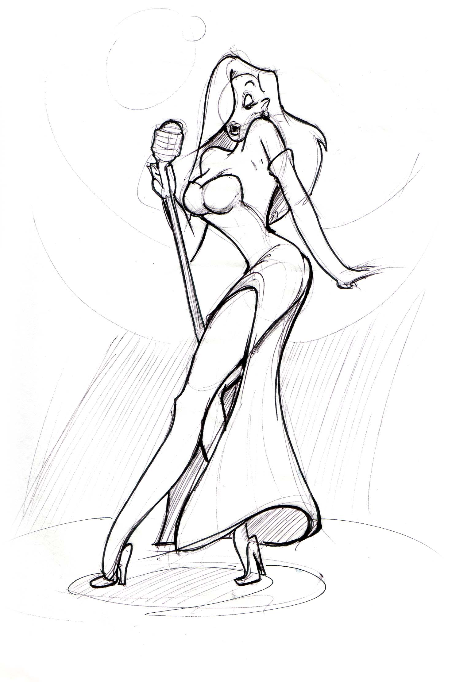 Drawn rabbit jessica rabbit Lineweights rabbit_1 Jessica jessica Rabbit!