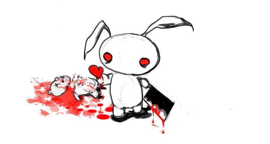 Drawn rabbit killer bunnies Bunny Killer DeviantArt on Killer