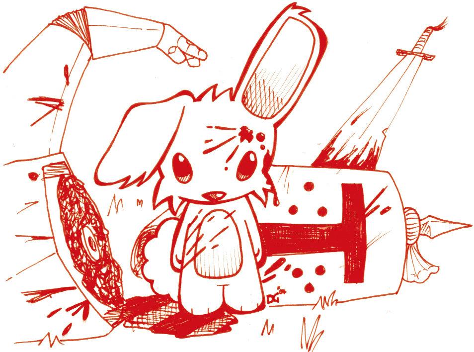 Drawn rabbit killer bunnies Rabbit caerbannog Rabbit Killer 25+