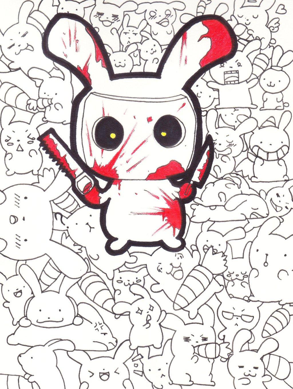 Drawn rabbit killer bunnies Bunny on Killer Chiblu by