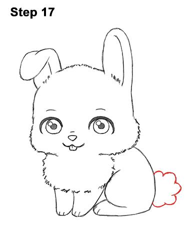 Drawn rabbit little rabbit Bunny Cute Cartoon Little 17