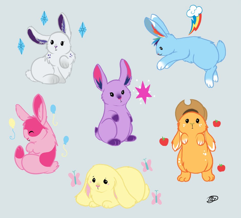 Drawn rabbit little rabbit Friendship Little Bunny by My