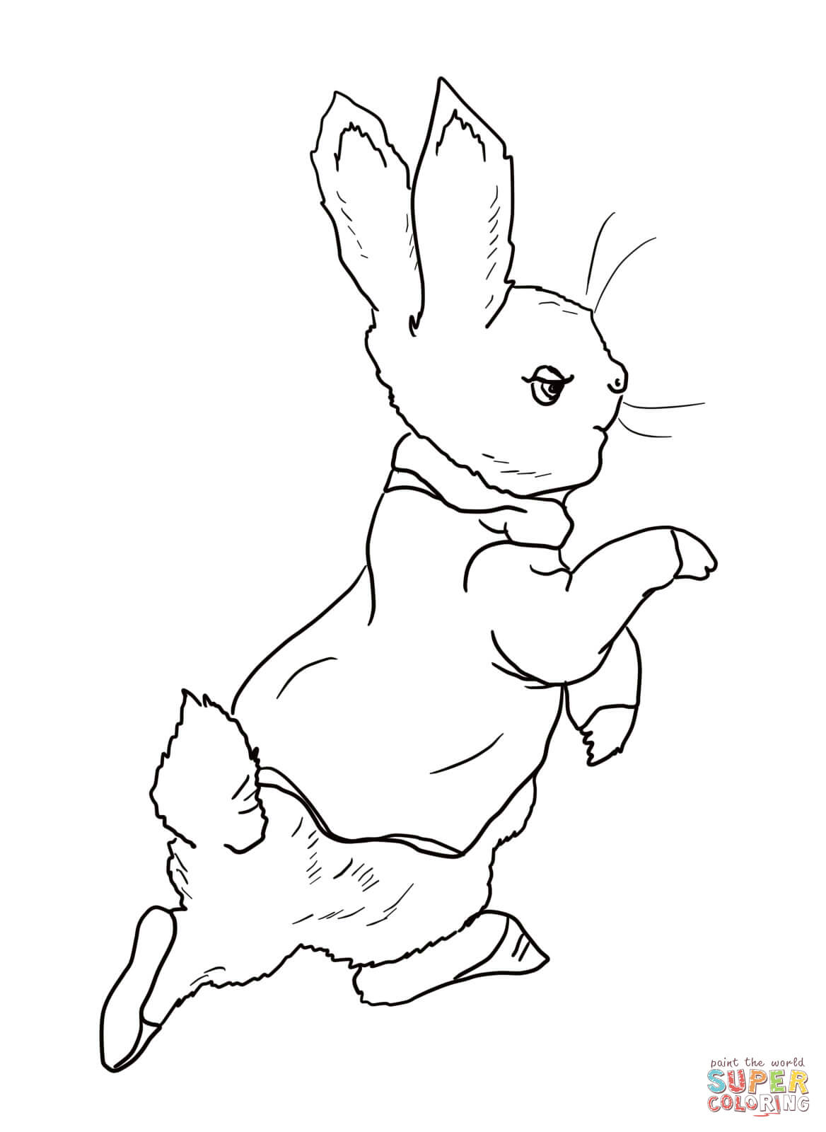 Drawn rabbit peter rabbit Coloring rabbit Rabbit pages Pages