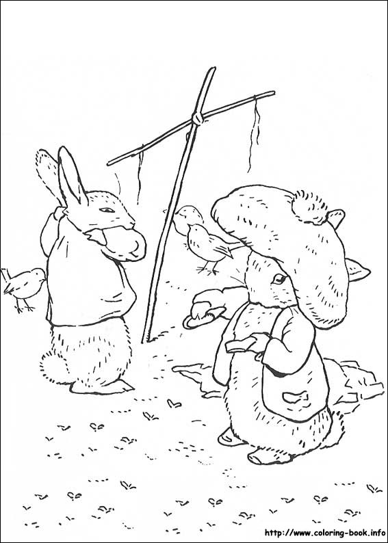 Drawn rabbid peter rabbit On Peter Rabbit coloring Book