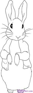 Drawn rabbid peter rabbit Pinterest may line drawing Peter