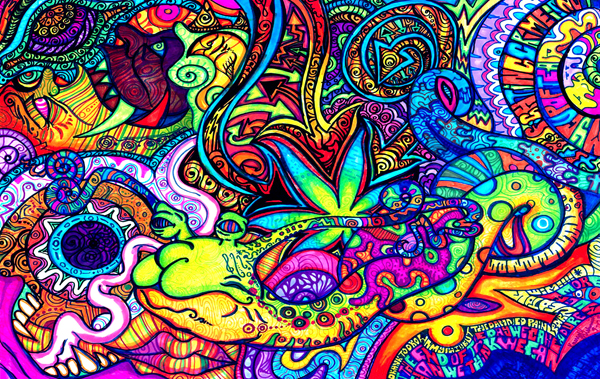 Drawn rabbit psychadelic Friday Friday: Psychedelic Faded Top