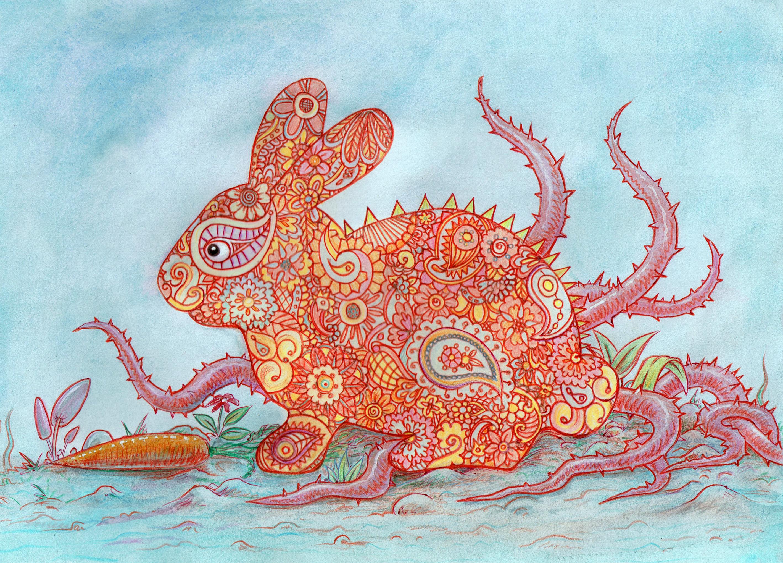 Drawn rabbit psychadelic 109 DeviantArt psychedelic Bunny offermoord