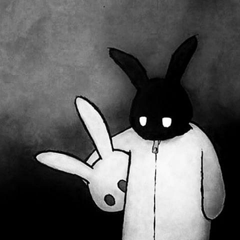 Drawn rabbit psychadelic Imxhausthead) and Instagram #donniedarko#darko#happyeaster#bunny#rabbit#creepy#horror#death videos