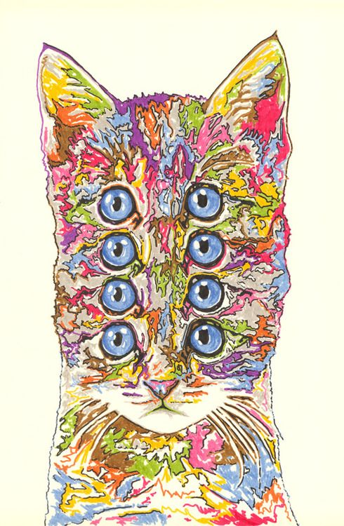 Drawn rabbit psychedelic Best  on Pinterest Psychedelic