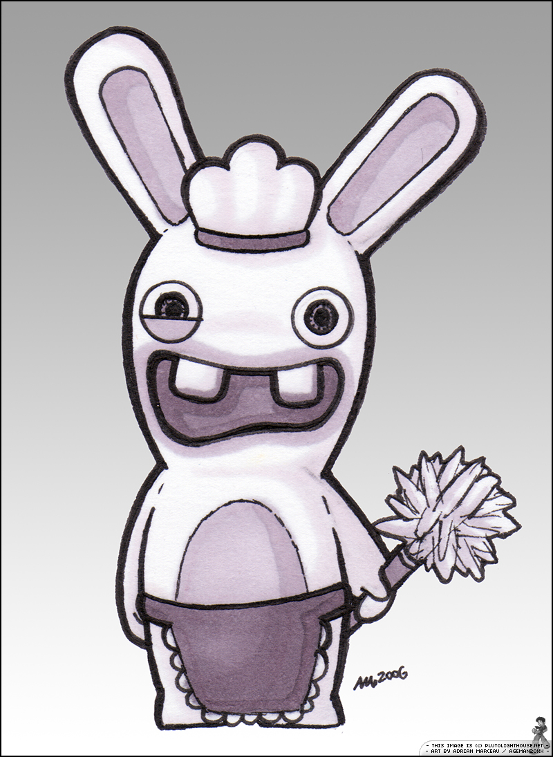 Drawn rabbid adorable bunny By Raving Rayman Rayman by