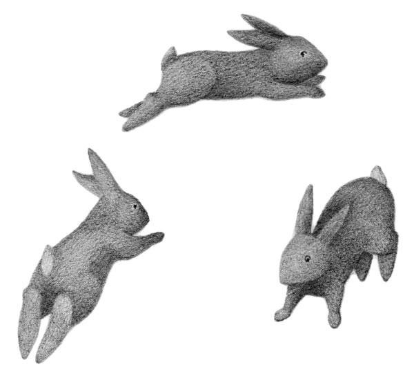 Drawn rabbid rabbit hopping Photos Best Best Clip Rabbit