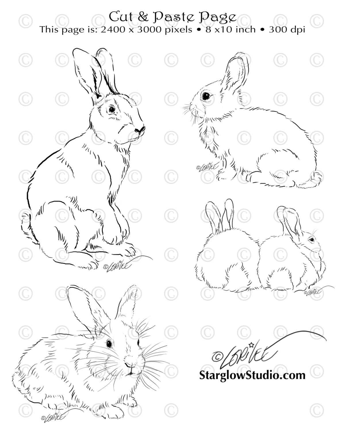 Drawn rabbit simple art Sketches or Digital Art Page