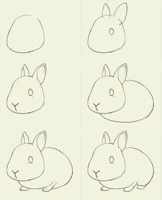 Drawn rabbit simple art Beautiful Idea A For Drawing