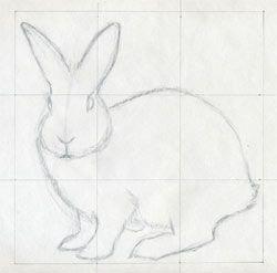 Drawn rabbit simple art Art Rabbit drawing bunny artist