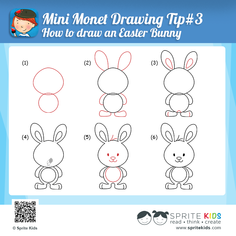 Drawn rabbit simple art Son  Drawing all and
