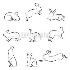 Drawn rabbit small Simple tattoos 25+ ideas Best