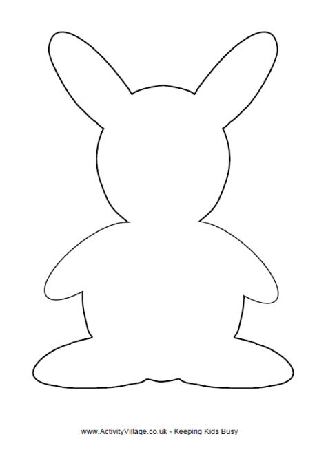 Drawn rabbit small Bunny Printables Rabbit Template Rabbit
