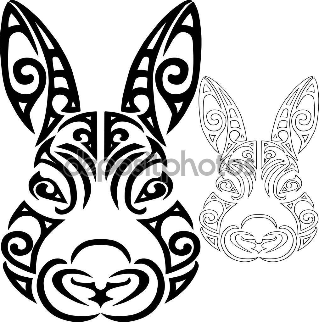 Drawn rabbit stylized Rabbit Vector head Vector face