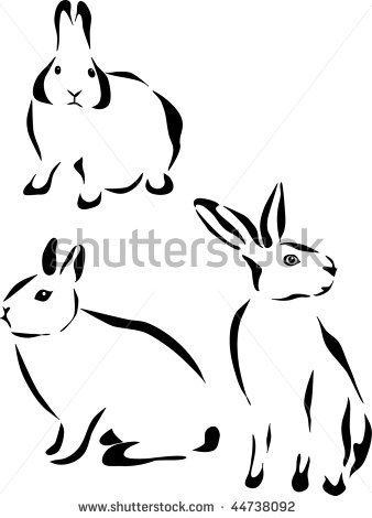 Drawn rabbit stylized Silhouette rabbit  of needs