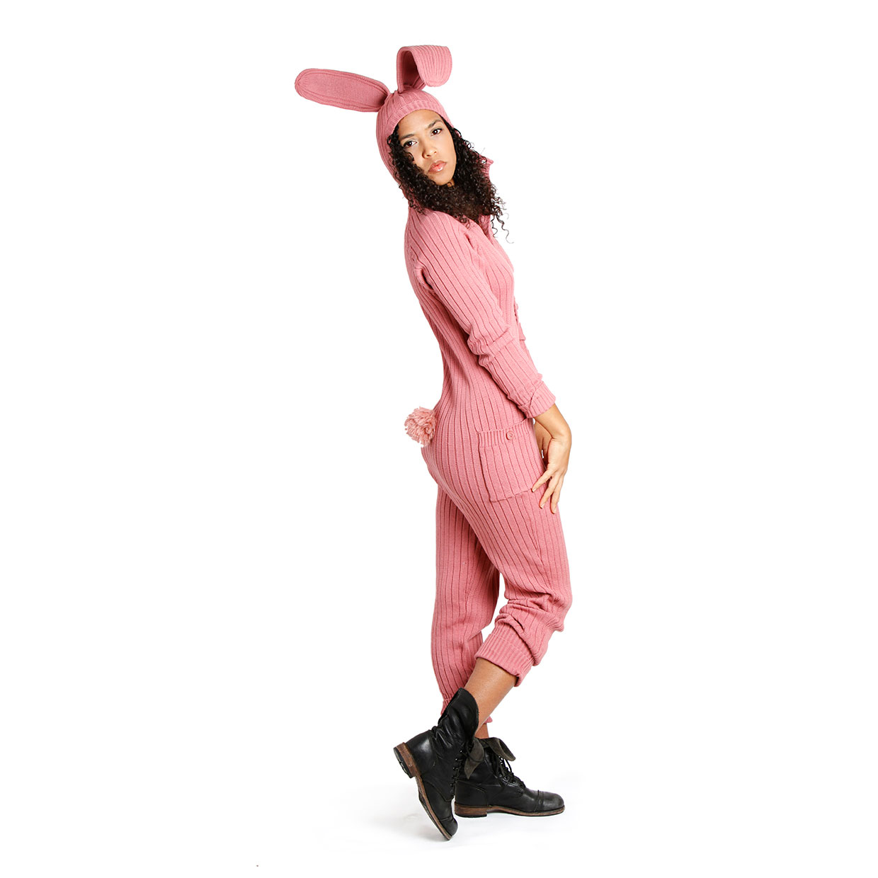 Drawn rabbit suit Suit bunny pink Bunny Pink