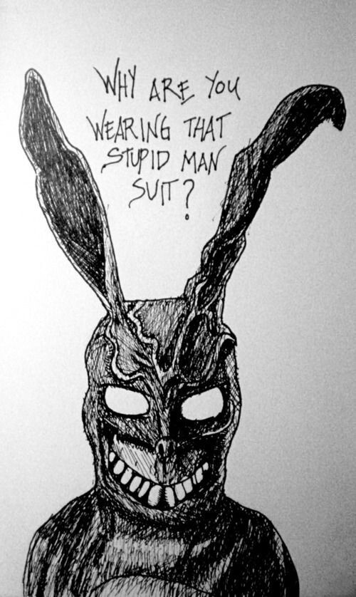 Drawn rabbit suit Donnie Donnie frank about Frank