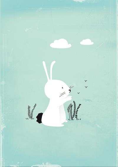 Drawn rabbit sweet bunny Kid's cute  a cute