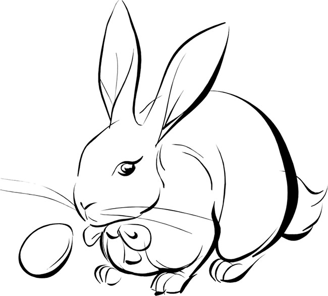 Drawn rabbit template & Animal Template Rabbit Free