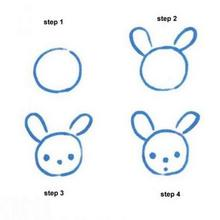 Drawn rabbit toddler Draw step easy step to