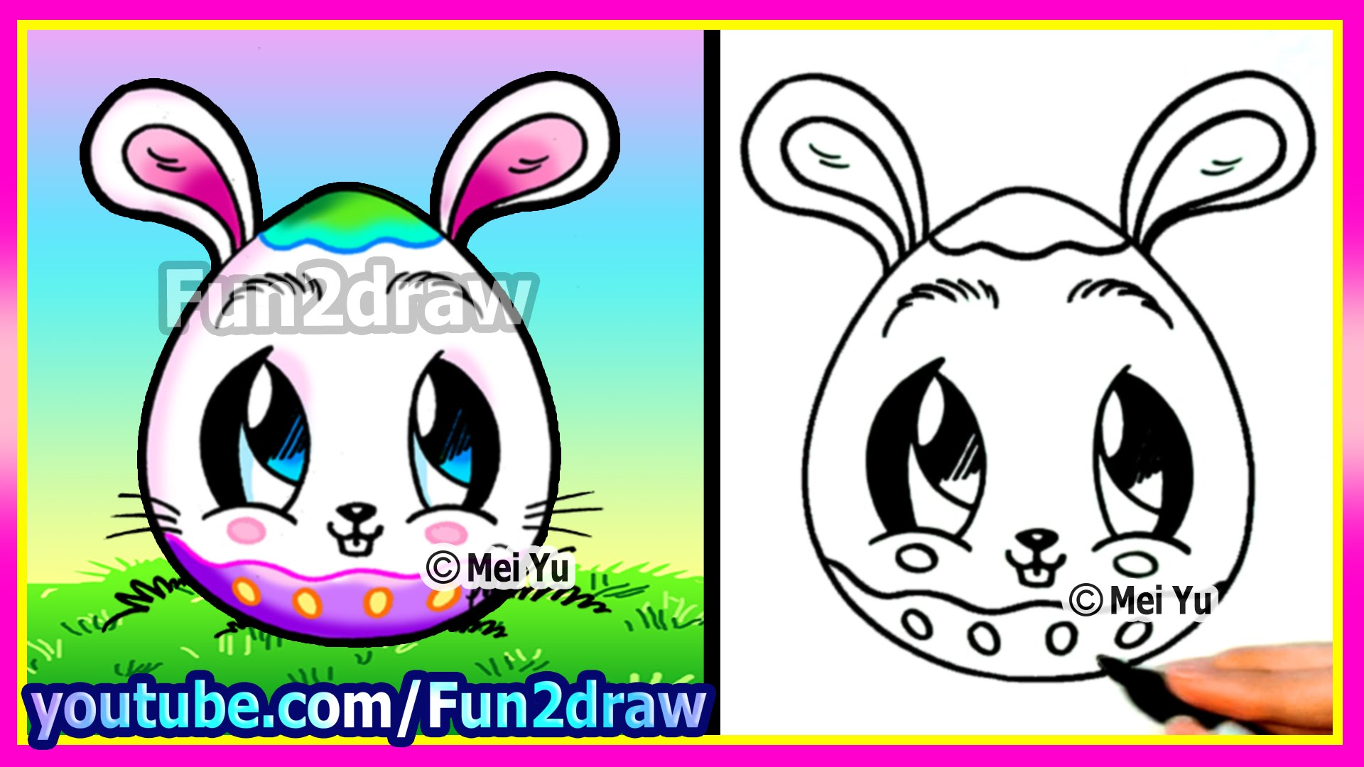 Drawn rabbit youtube easy cartoon Draw A How To Fun2draw
