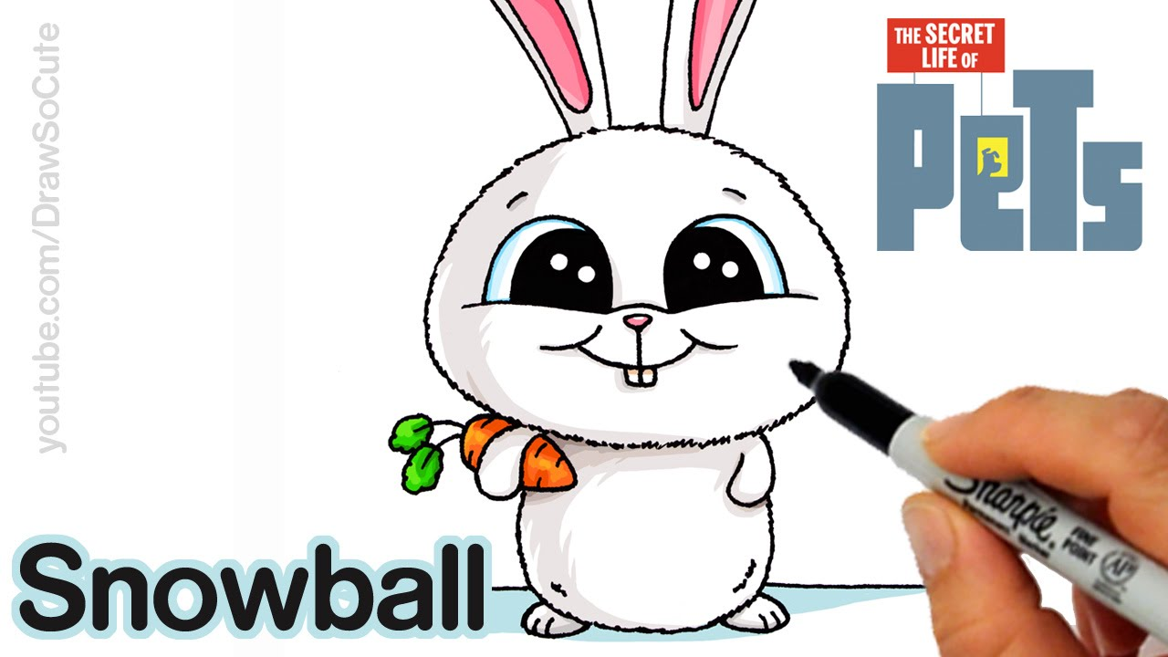 Drawn rabbid youtube easy cartoon Step step Life to by