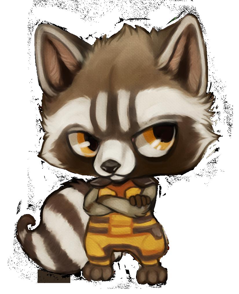 Drawn raccoon chibi Baby Raccoon Drawing