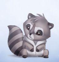 Drawn raccoon chibi Lady Raccoon DeviantArt Raccoon by