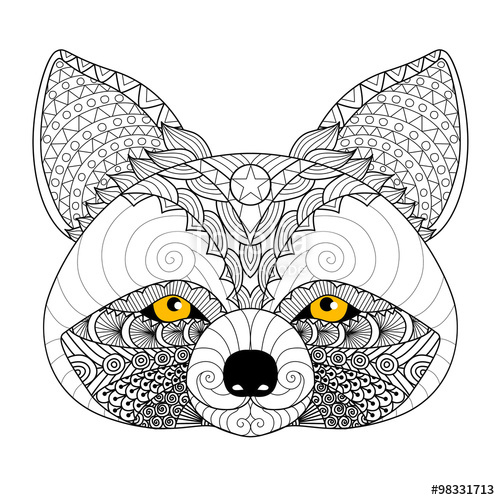 Drawn raccoon color Shirt adult logo tattoo coloring